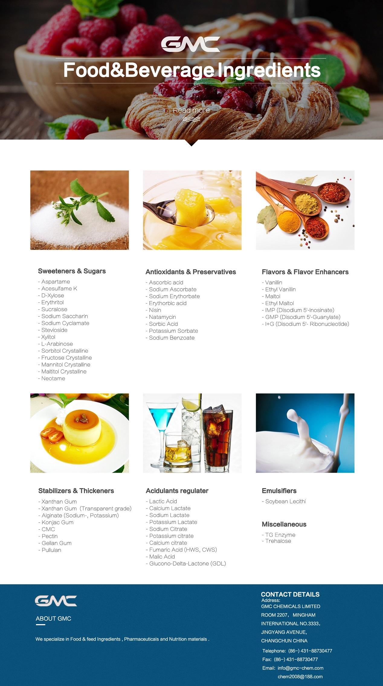 Glycine|food ingredients|Amino Acid Chelates--GMC CHEMICALS